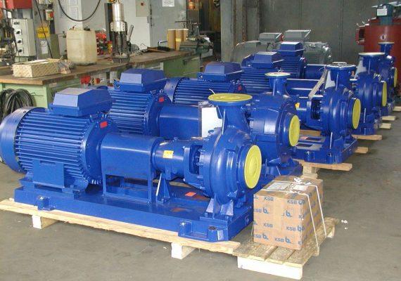 5 x 110 kW – Pumpen für KSB-Export