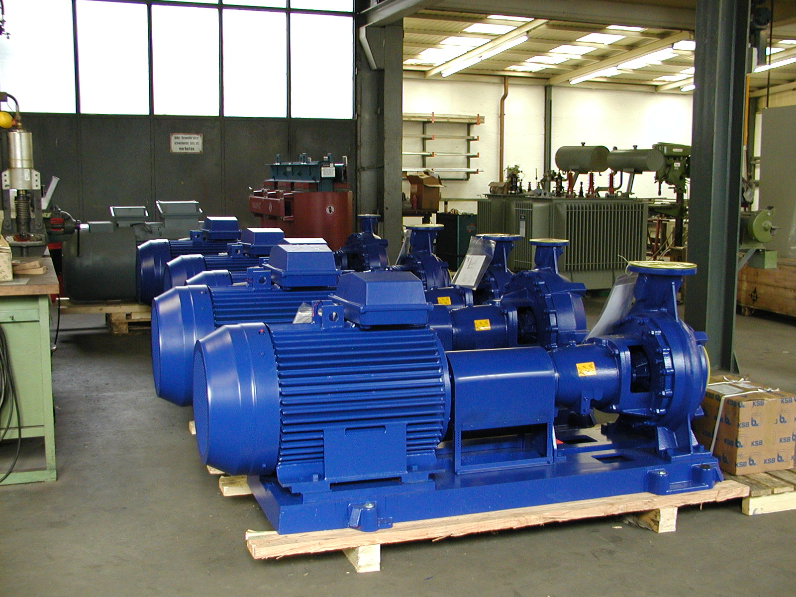 5 x 110 kW – Pumpen für KSB