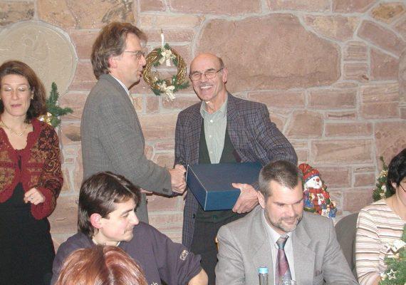 Ehrungen und Weihnachtsfeier 2004
