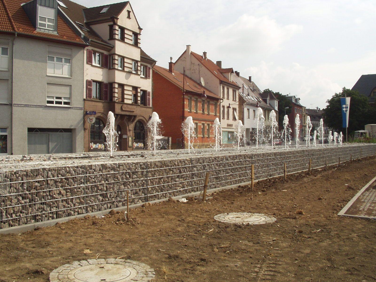 Neue Wasserfontäne der Stadt Bretten