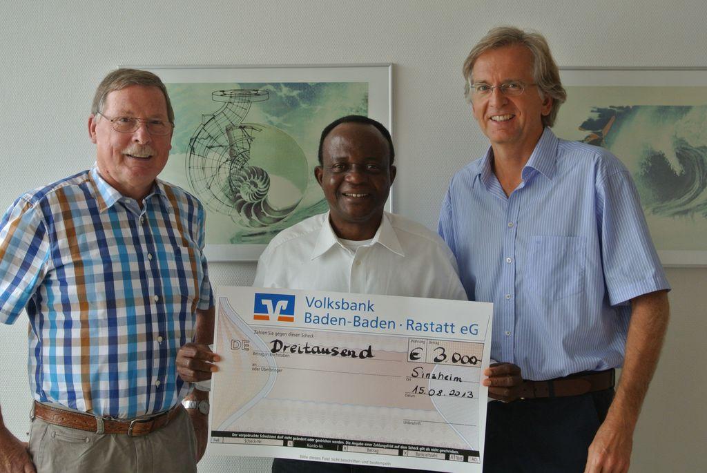 Unterstützung für Trinkwasserprojekt in Afrika