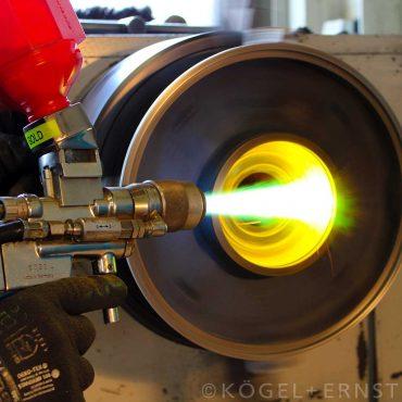 Lagersitzaufarbeitung mittels Flamm-Spritzverfahren